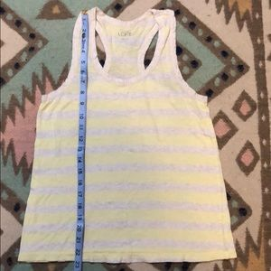 Loft yellow and grey stripe racer back tank